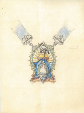 Potential design for the RCOG President's badge, circa 1930. From the College archive.